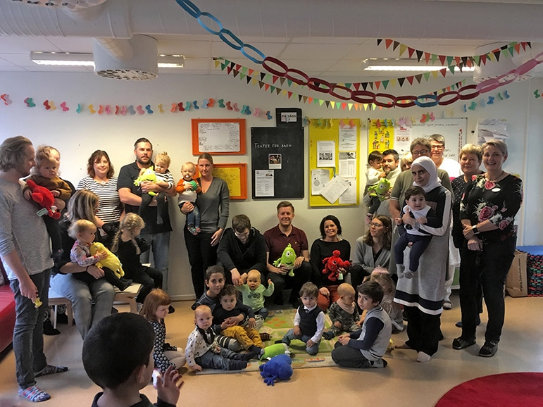 Tårtkalasdags igen för Osbys nya kommuninvånare