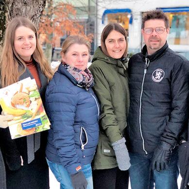 Älmhults skolungdom  miljöspanar  om matsvinn